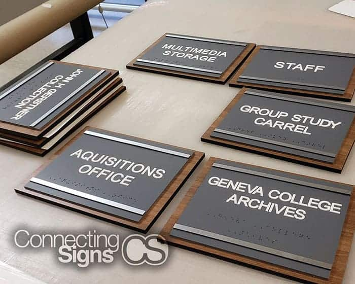 college ada signs - Connecting Signs