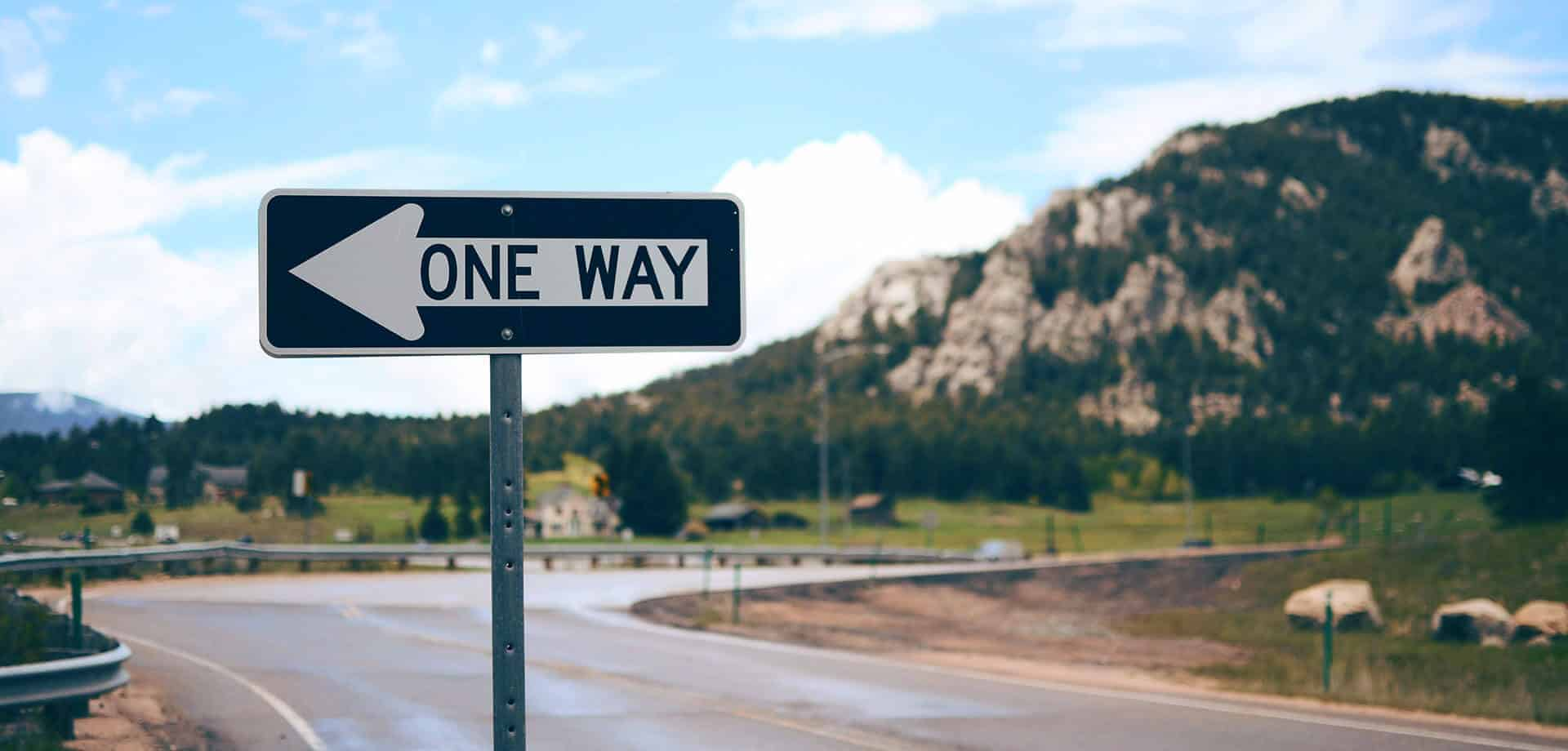 one way sign - Connecting Signs